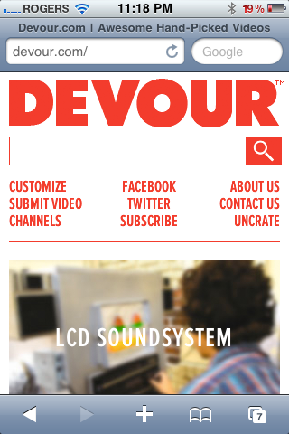alternative layout with @media