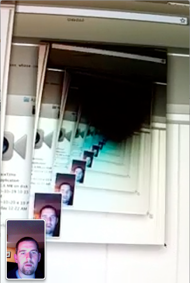 FaceTime of a FaceTime chat feedback loop