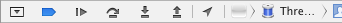 The debug control bar.