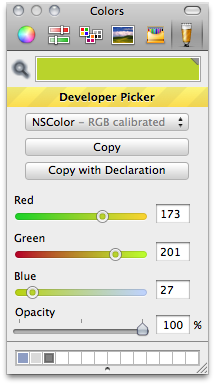 Panic's Developer Color Picker